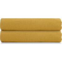 Простыня  горчичного цвета 240х270 Tkano Essential (TK18