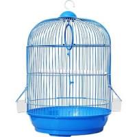 Клетка N1 33х53см круглая, укомплектованная для птиц (ДКпА309)