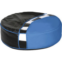 Пуф круглый ABC KING Formula черно синий