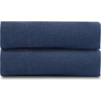 Простыня  темно синего цвета 240х270 Tkano Essential