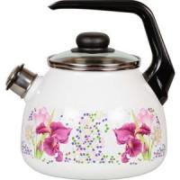 Чайник эмалированный со свистком 3.0 л СтальЭмаль