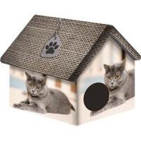 Домик PerseiLine Дизайн Британец для кошек 33*33*40