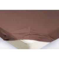 Простынь на резинке Ecotex 140x200, светло коричневый (4650074959092)