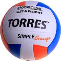 Мяч волейбольный Torres любительский Simple Orange арт.