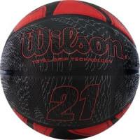 Мяч баскетбольный Wilson 21 Series, р.7, красно