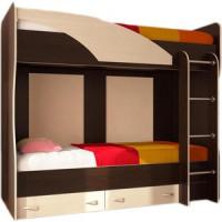 Кровать двухъярусная Стиль Мийа (А) Фасад ЛДСП