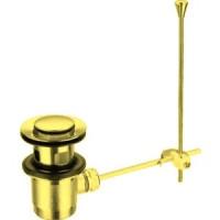 Донный клапан Cezares механический, золото (CZR