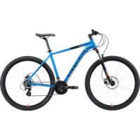 Велосипед Stark Router 29.3 HD (2019) голубой/чёрный/оранжевый 22''