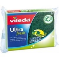 Губка VILEDA Ultra fresh ( Ультрафреш), антибактериальная