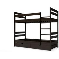 Детская двухъярусная кровать Miella Happiness 80x190 венге