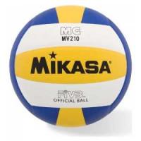 Мяч волейбольный Mikasa MV210, р.5, бел желт син
