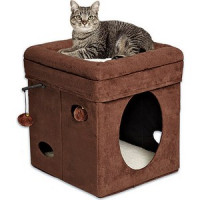 Домик Midwest Curious Cat Cat Cube  Brown