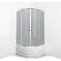 Душевой уголок Erlit Comfort 100x100 профиль хром, стекло