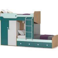 Кровать Моби Джуниор 11.06 + лестница гикори