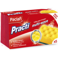 Губка Paclan PractI Multi Wave для посуды