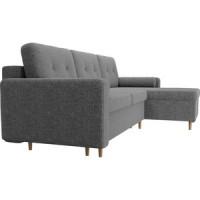 Угловой диван Мебелико Белфаст рогожка серый правый