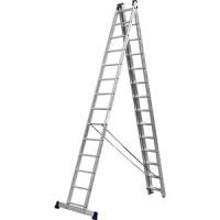 Лестница трехсекционная Сибин со стабилизатором 14 ступеней