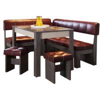Кухонный уголок Это мебель Валенсия венге/бордо