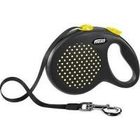 Рулетка Flexi Design L лента 5м черная/желтый