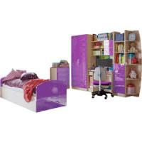 Модульная детская Миф Юниор 2 фиолетовый глянец