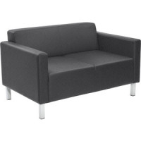 Двухместный диван Euroforma Евро рогожка bravo, grey