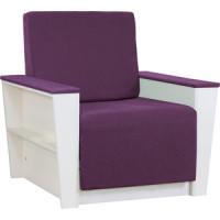 Кресло Шарм Дизайн Бруно 2 рогожка фиолетовый