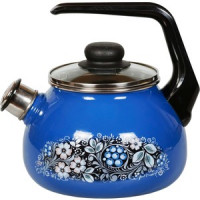 Чайник эмалированный со свистком 2.0 л СтальЭмаль