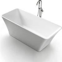 Акриловая ванна BelBagno 170x80 слив перелив хром (BB60