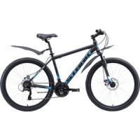 Велосипед Stark Indy 26.1 D Microshift (2020) чёрный/голубой/белый