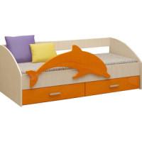 Кровать Регион 58 Дельфин 4 оранжевый/белфорт