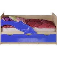 Кровать Миф Дельфин 1 дуб беленый/синий