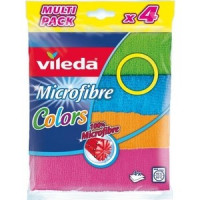 Салфетка VILEDA Colors (Колорс) из микрофибры 4 шт