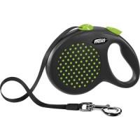 Рулетка Flexi Design L лента 5м зеленая