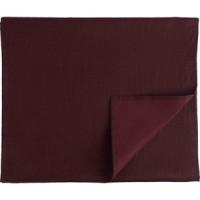 Дорожка на стол бордового цвета 45х150 Tkano