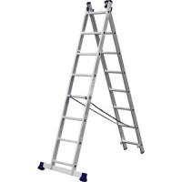 Лестница двухсекционная Сибин 8 ступеней (38823 08)