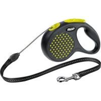 Рулетка Flexi Design M лента 5м желтая