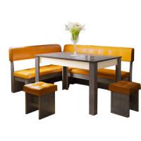 Кухонный уголок Это мебель Валенсия венге/оранж
