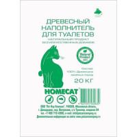 Наполнитель HomeCat впитывающий древесный с мелкими гранулами
