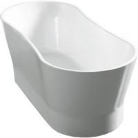 Акриловая ванна BelBagno 165x73 слив перелив хром (BB406