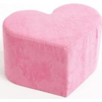 Пуф ABC KING Сердце розовое
