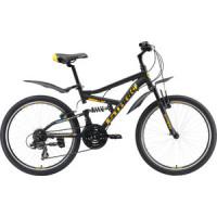 Велосипед Stark Rocket 24.2 FS V (2019) черный/оранжевый/голубой