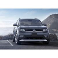 Защита переднего бампера d57+d42 Rival для Volkswagen