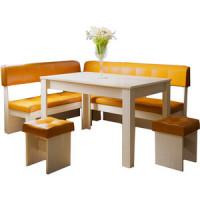 Кухонный уголок Это мебель Валенсия дуб белфорд/оранж