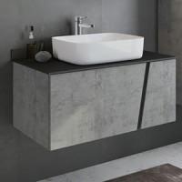 Мебель для ванной Comforty Эдинбург 90 бетон