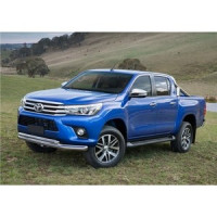 Защита переднего бампера d76+d57 Rival для Toyota