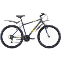 Велосипед Stark Outpost 26.1 V (2020) серый/жёлтый 18''
