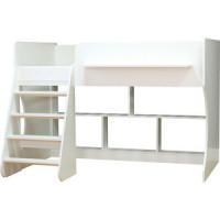 Кровать чердак Капризун Р436 2 белый