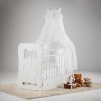 Кровать детская Островок уюта Мальвина белый маятник