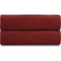 Простыня  бордового цвета 240х270 Tkano Essential (TK18