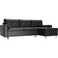 Угловой диван Мебелико Белфаст эко кожа черный